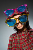Funny scotsman in traditional Royalty Free Stock Photography