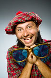 Funny scotsman in traditional Stock Image
