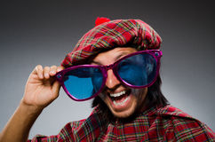 Funny scotsman Stock Images