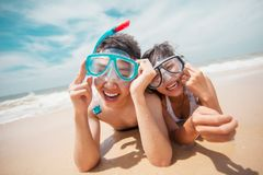 Funny scubadivers Royalty Free Stock Photo