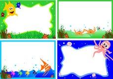 Funny sea animal frame Stock Image