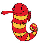Funny Sea horse. Royalty Free Stock Images