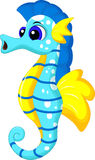Funny seahorse cartoon Royalty Free Stock Images