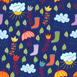 Funny seamless childish pattern Royalty Free Stock Image