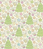 Funny seamless christmas color vector background Royalty Free Stock Photography