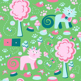 Funny Seamless Pattern Royalty Free Stock Photo