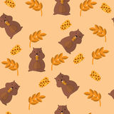 Funny seamless pattern Stock Photos