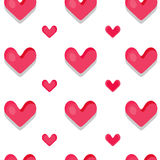 Funny seamless pattern with hearts. Funny seamless pattern with hearts for your project design Stock Photos