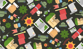 Funny seamless pattern Military Stock Image