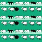Funny seamless pattern with sheeps Stock Photo