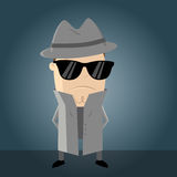 Funny secret agent. Cartoon illustration Royalty Free Stock Photos