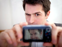 Funny self-portrait Stock Photo