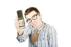 Funny selfie Stock Images