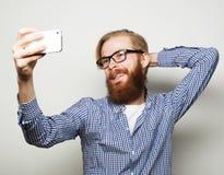 Funny selfie. Happy day. Stock Photo