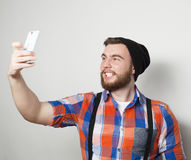 Funny selfie. Happy day. Royalty Free Stock Image