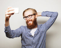 Funny selfie. Happy day. Stock Images