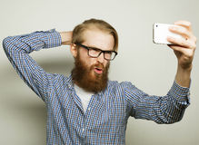 Funny selfie. Happy day. Royalty Free Stock Photos