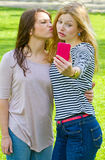 Funny selfie Stock Photos