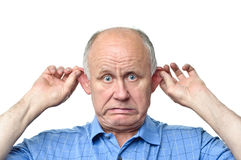 Funny senior man Royalty Free Stock Photos