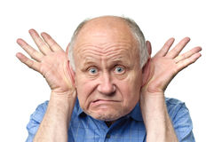 Funny senior man Stock Image