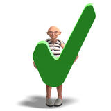 A funny senior with webpage elements Stock Image