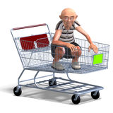 A funny senior with webpage elements Stock Photos