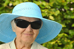 Funny senior woman. Royalty Free Stock Photos