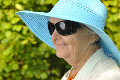 Funny senior woman. Royalty Free Stock Photo