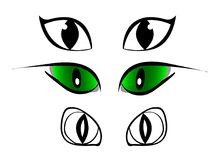 Set of cartoon eyes, comic set for cartoons Stock Photo