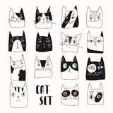 Funny set of vector cats Royalty Free Stock Photography