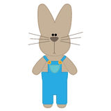 Funny Sewn Rabbit Royalty Free Stock Image