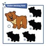 Funny shadow bear game. Stock Image