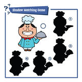 Funny shadow cook game. Stock Images
