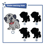Funny shadow dog game. Stock Photos