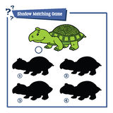 Funny shadow turtle game. Stock Photography