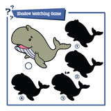 Funny shadow whale game. Royalty Free Stock Images