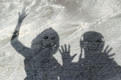 Funny shadows Royalty Free Stock Images