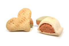 Funny shaped dog cookies Stock Photography