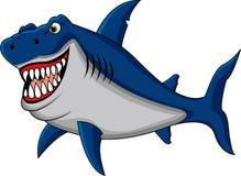 Funny shark cartoon. Illustration of funny shark cartoon vector illustration