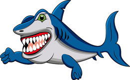 Funny shark cartoon Stock Image