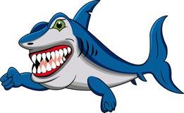 Funny shark cartoon. Illustration of funny shark cartoon royalty free illustration
