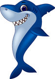 Funny shark cartoon Stock Photography