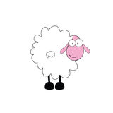 Funny sheep animal with big eye Stock Image