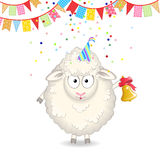 Funny sheep Royalty Free Stock Photo