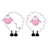 Funny sheep with big eye vector Royalty Free Stock Image