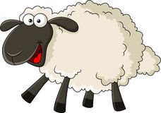 Funny sheep cartoon. Illustration of funny sheep cartoon isolated on white royalty free illustration