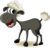 Funny sheep cartoon Royalty Free Stock Photos