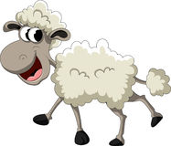 Funny sheep cartoon Royalty Free Stock Images