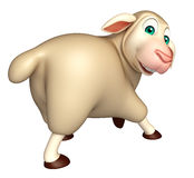 funny Sheep  cartoon character Royalty Free Stock Images
