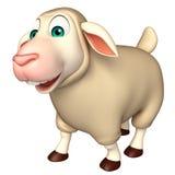 funny Sheep  cartoon character Royalty Free Stock Image